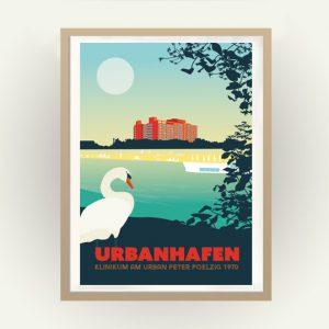 Berlin Retro Poster Urbanhafen