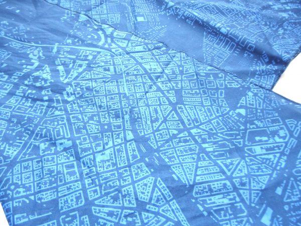 Berliner Stadtplan Tuch Detail