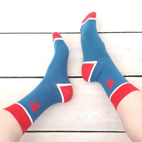 Berlin Bär Socken rot blau