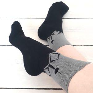 Berliner Fernsehturm Socken grau