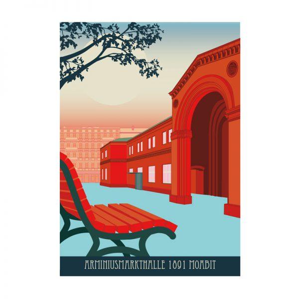Postkarte Moabit Arminiushalle