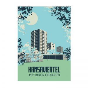 Postkarte Berlin Illustration Hansaviertel