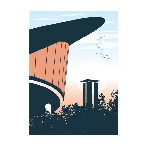 Postkarte Berlin Tiergarten