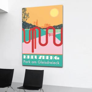 Berlin Poster Aludibond Kreuzberg