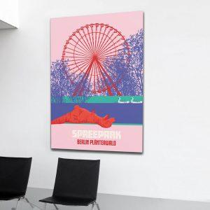 Berlin Poster Aludibond Plänterwald