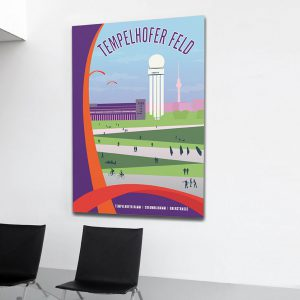Berlin Poster Aludibond Tempelhofer Feld