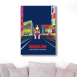 Berlin Poster Aludibond Checkpoint Charlie