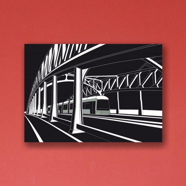 Berlin Poster Aludibond Bornholmer Brücke