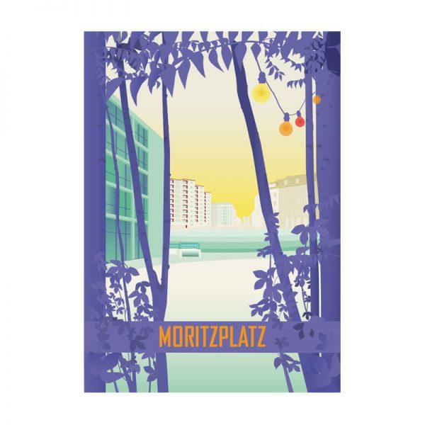 Berlin Poster Kreuzberg Moritzplatz