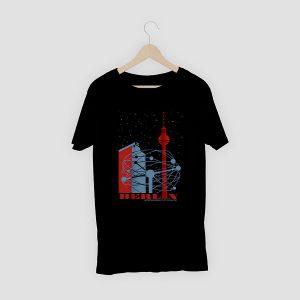 T-Shirt Berlin Weltzeituhr Schwarz