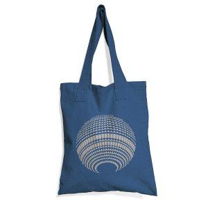 Blaue Baumwolltasche mit Fernsehturm Print