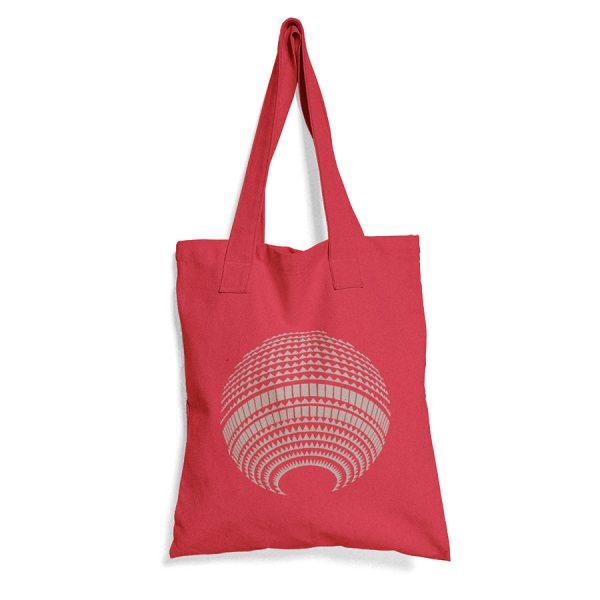 Rote Baumwolltasche mit Fernsehturm Print
