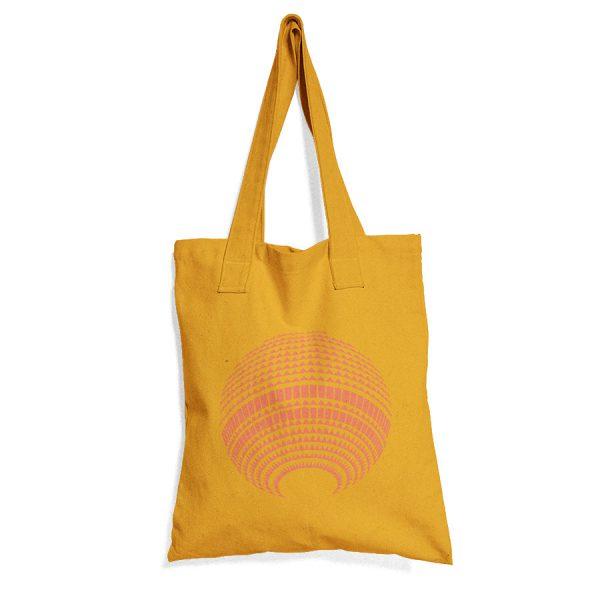 Gelbe Baumwolltasche mit Fernsehturm Print