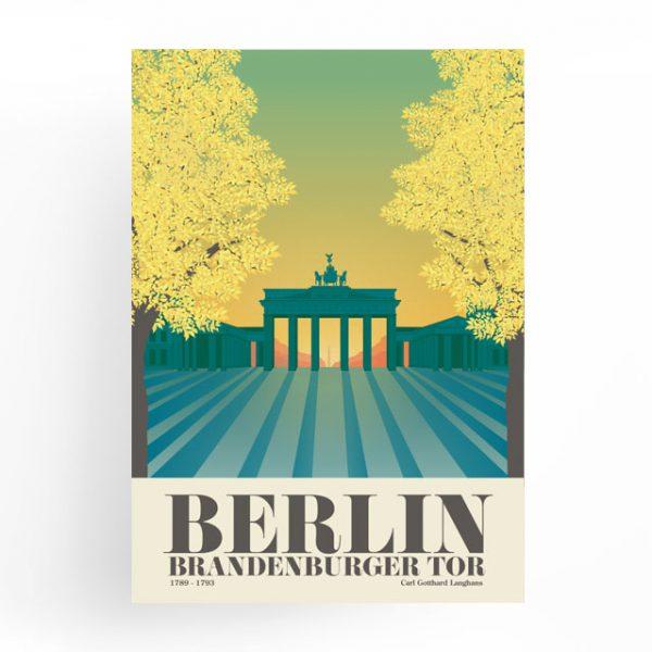 Berlin Poster Brandenburger Tor Herbst