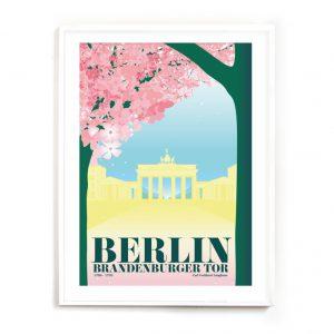 Berlin Brandenburger Tor Poster Kirschblüte
