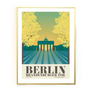 Berlin Poster Brandenburger Tor nach Westen
