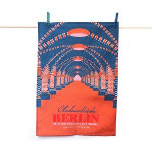 Berlin Geschirrtuch Oberbaumbrücke orange