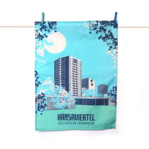Berlin Geschirrtuch Hansaviertel blau