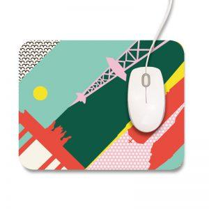 Berlin Mousepad bunt rechteckig