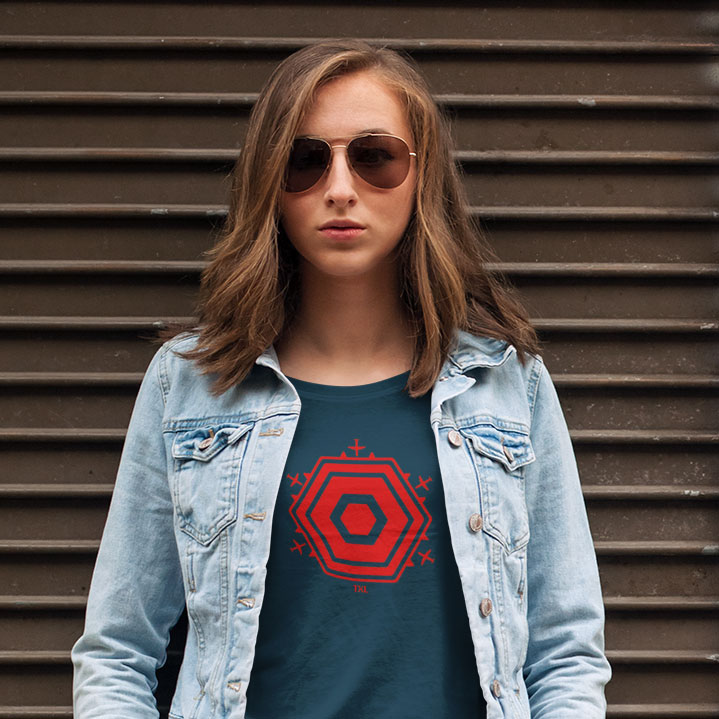Frauen Berlin TXL Shirt blau rot