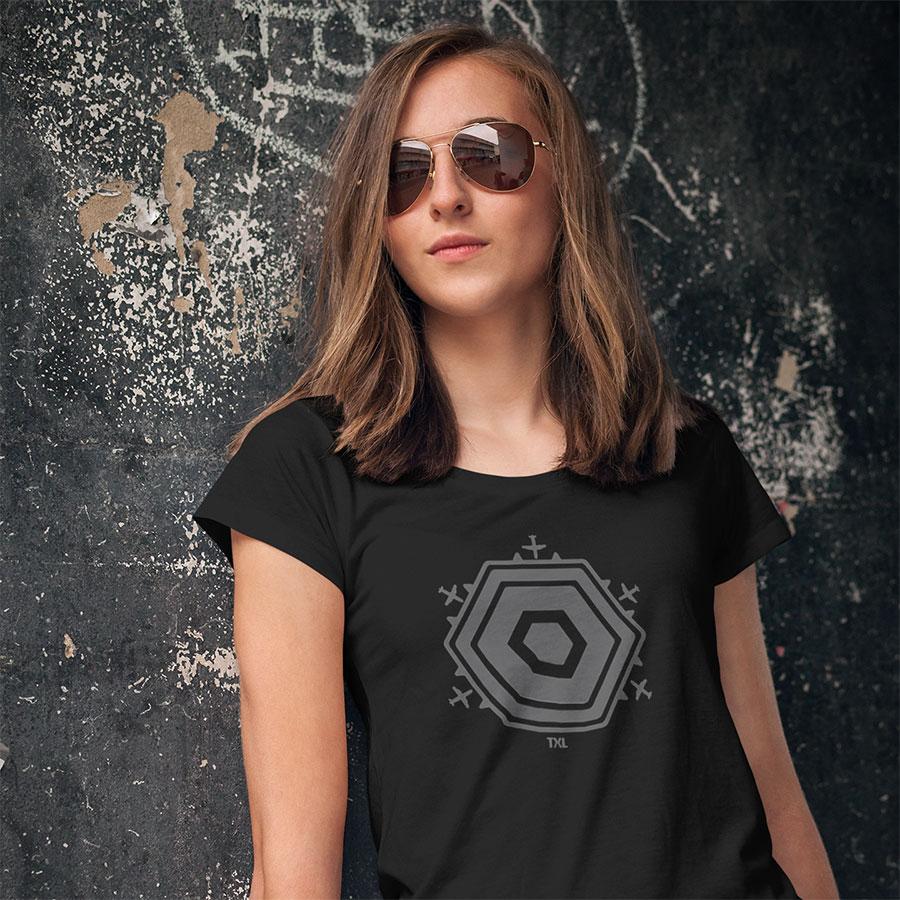 Girl Berlin TXL Shirt schwarz grau cool