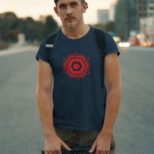 Mann Berlin TXL Shirt blau-rot