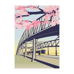 Berlin Postkarte Bornholmer Brücke