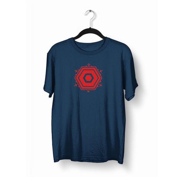 Berlin T-Shirt TXL marine rot auf Bügel