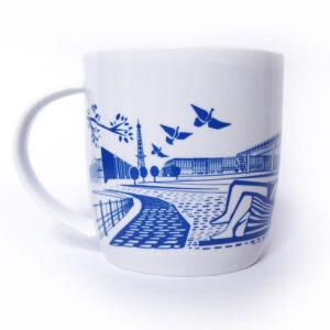 Berlin Tasse blau