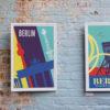 Berlin Poster an Backsteinwand