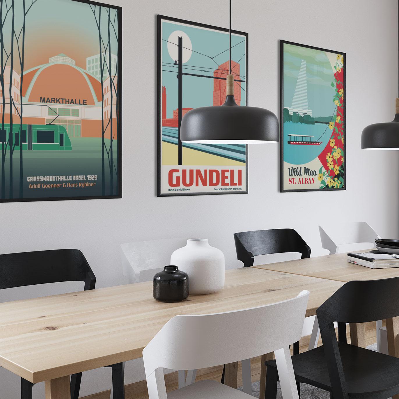 Basel Poster Wohnzimmer