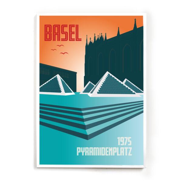 Basel Poster Pyramidenplatz