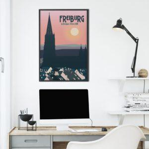 Freiburg Poster Abendrot