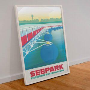 Freiburg Seepark Poster