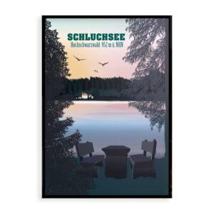 Schwarzwald Poster Schluchsee