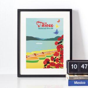 Titisee Schwarzwald Poster im Rahmen