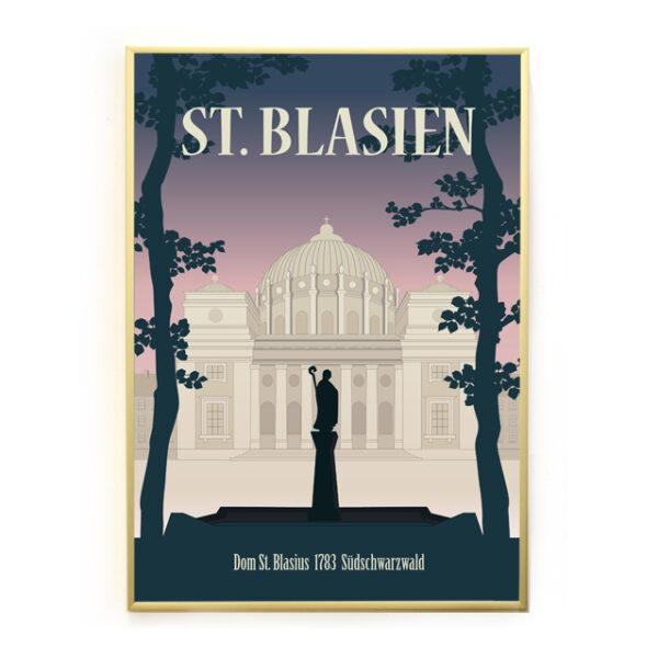 St. Blasien Schwarzwald Poster