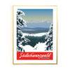 Südschwarzwald Winter goldener Rahmen