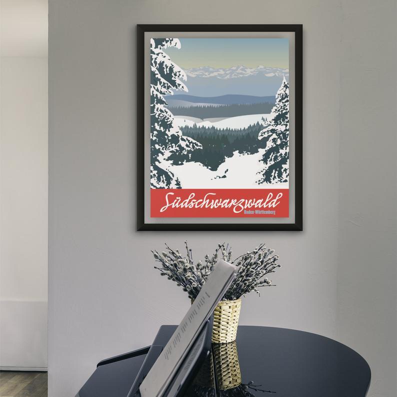 Südschwarzwald Poster mit Klavier