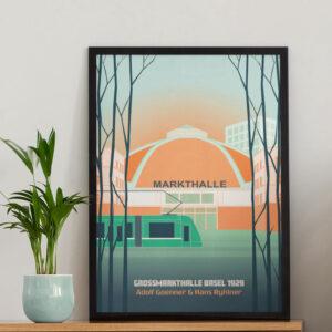 Basel Poster Markthalle