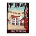 Basel Klosterberg Print schwarzer Rahmen